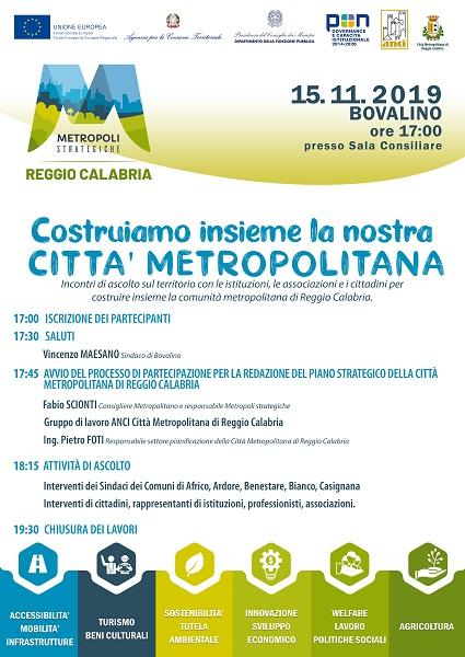 progetto metropoli strategiche - bovalino