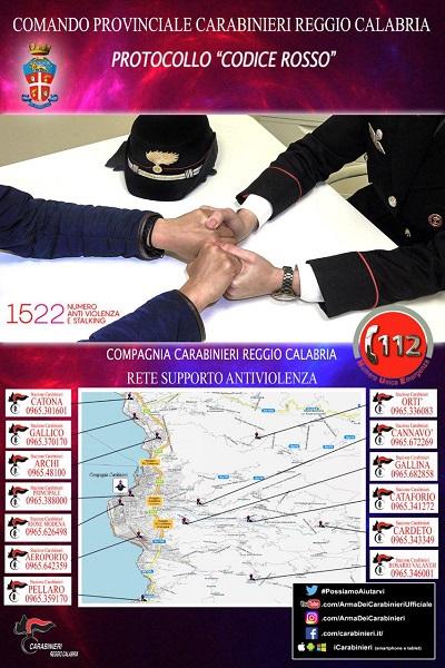protocollo codice rosso carabinieri