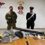 Palmi: i carabinieri rinvengono arsenale, droga e refurtiva in fondi agricoli