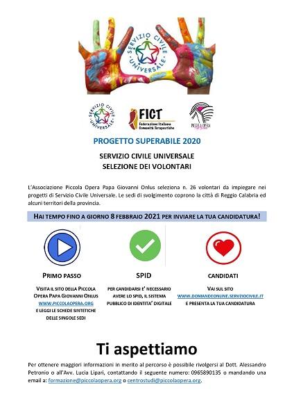 PROGETTO SUPERABILE 2020 servizio civile