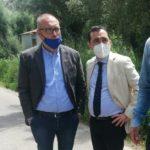 Visita istituzionale dei consiglieri metropolitaniMantegna e Versace sui tratti della ex Sp27